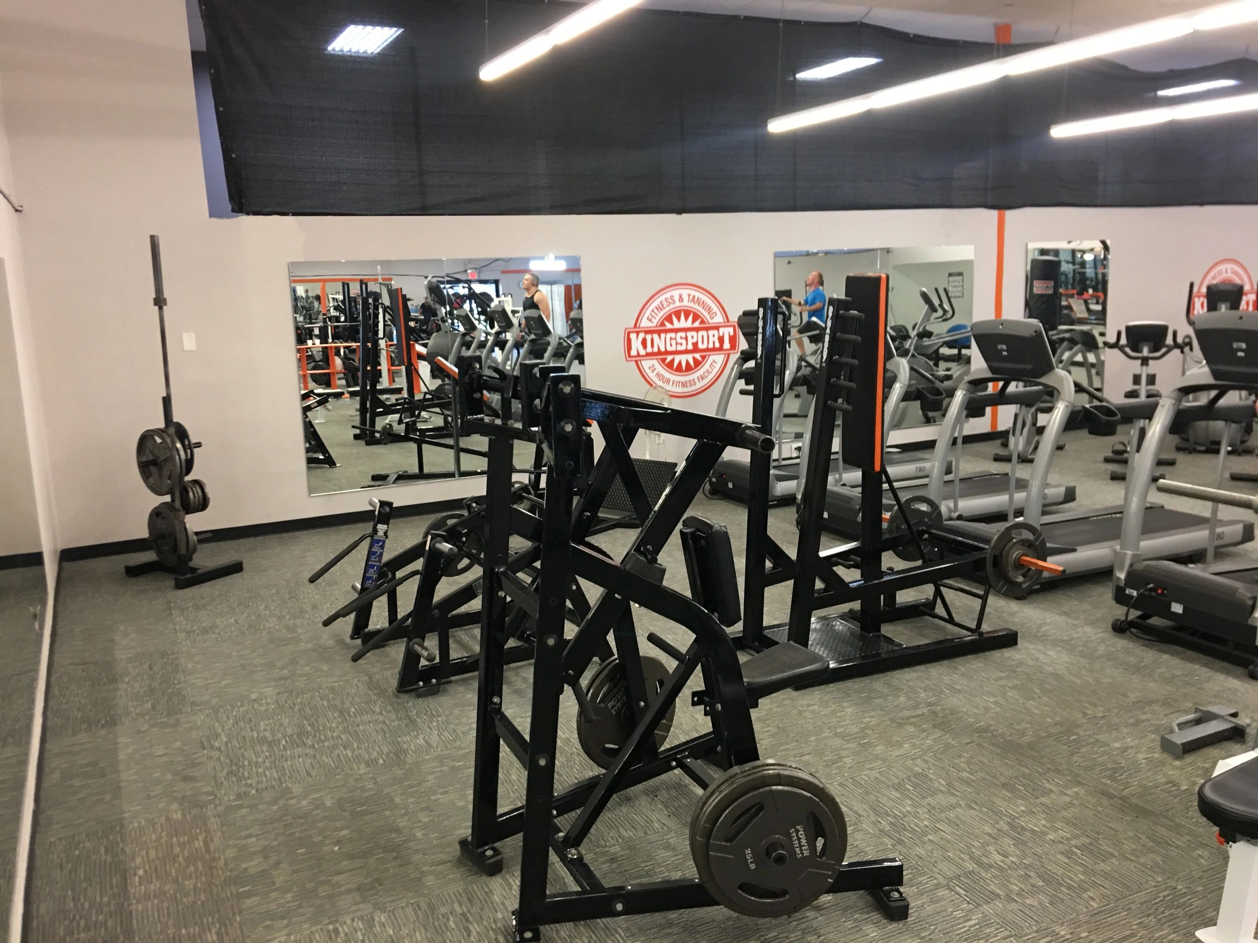 weight lifting equipment and treadmills